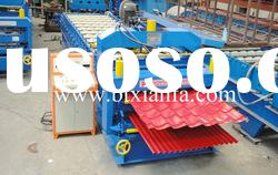 Double deck metal roofing tile roll forming machine XF1100/1016