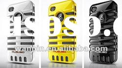 Double-layers PC and silicone case for mobile phone case
