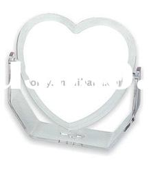 Double side & plastic Heart-shaped smetic Mirror with foot