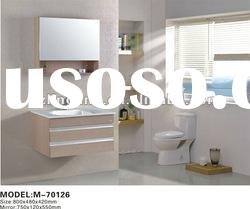 European style modern wooden bathroom cabinet furniture