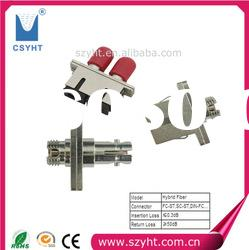 FC-ST Hybrid Fiber optic adapter with Low IL & High RL and Good quality & manufacturer