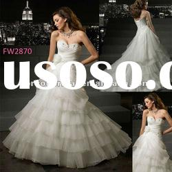 FW2870 Floor Length Sweetheart Wedding Dress 2012 Organza