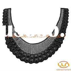 Fashion garment accessories beaded collar motif