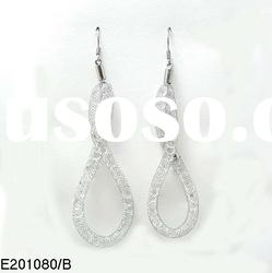 Fashion valentine's day gifts crystals in alloy meshes alloy earrings