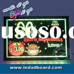 Flashing Write-On LED Restaurant Bar Menu Food Board Signs Manufacturers and Suppliers