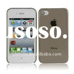 For iphone case ultra-thin flexible grey case for iphone4, iphone4 grey slim case