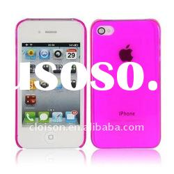For iphone case ultra-thin flexible hotpink case for iphone4, iphone4 hotpink slim case