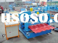 Glazed tile metal sheet roll forming machine XF828