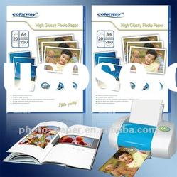 Glossy Photo paper (A4 size) use for EPSON/CANON/HP/BROTHER/LEXMARK