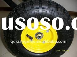 Good quality pneumatic trolley rubber wheel 350-4 at competitive price