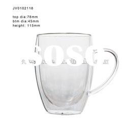 High Clear Double Wall Cappuccino Glass Cup