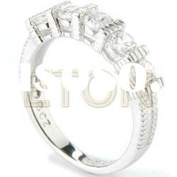 High polished artisan handcrafted quality rhodium fashion 925 silver ring jewelry (R5748)