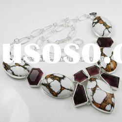 Imitation jewelry Mosaic Jasper wholesale bib necklace