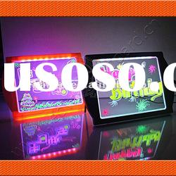 LED fluorescent drawing signs board for kids