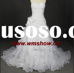 Latest Beautiful Ball Gown Sweetheart Transparent Wedding Dresses