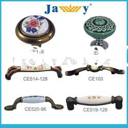 Modern zinc ceramic pull handle for various kitchen furniture hardware and accessories handle