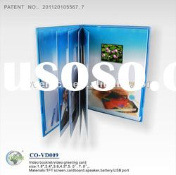 Multi-page LCD Video Brochures for Fair Display, Advertising and Promotional Gifts