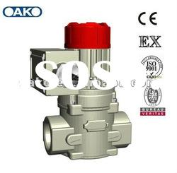 Natural gas solenoid valve with gas detector DN25B