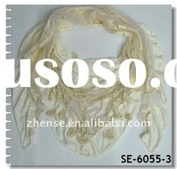 New Design Dress Lace Triangle Scarf(SE-6055-3)