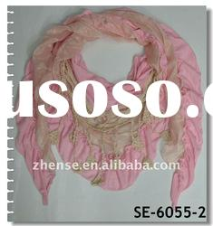 New Design Spring Lace Triangle Scarf(SE-6055-2)
