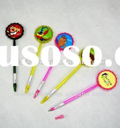 Plastic ball pen with name card