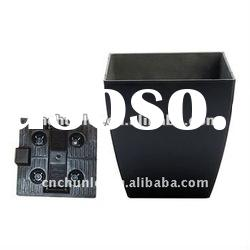 Plastic square black flower pot