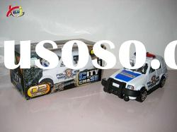 Plastic toys for kid friction police car toy