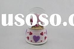 Polyrersin Wedding Musical Snow Globes with music souvenir gifts