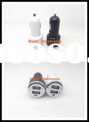 Portable Dual usb car charger for iphone,ipad,Samsung Galaxy P1000