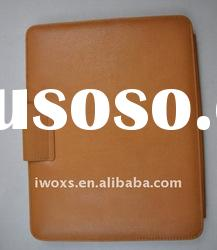 Protective leather cases for ipad2 with high quality PU + Genuine leather material