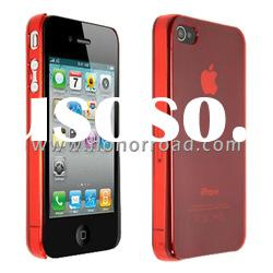 Red Ultra Thin Crystal Case Cover for the iPhone 4