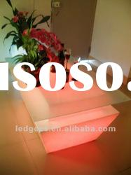 Resin can not folding illuminated plastic tables and chairs