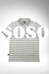 SGS Certified Eco-Friendly 100% Organic Cotton Stripe Polo Shirt!!