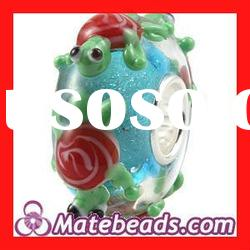 Silver Core Lampwork Turtle Charm Glass Beads For Bracelets Wholesale