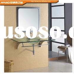 Simple style stainless steel bathroom vanity with mirror N-360