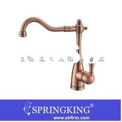 Single Hole Bathroom Kitchen Sink Faucet Antique Copper