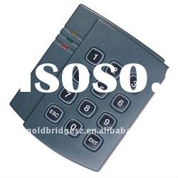 Single door access control card reader with keypad