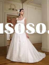 Sleeveless honeycomb organza ball gown sale wedding dress (WD10425)