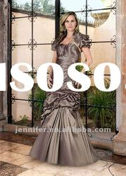 Taffeta long mother of the bride dresses with short skirt (ABB119)
