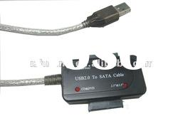 "USB2.0 to 1.8/2.5/3.5"" SATA cable with LED show"
