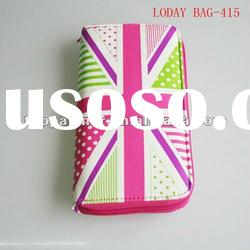 Union Jack female wallet with mobile phone holder(LODAY BAG-415)