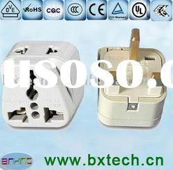 Universal Plug Adapter with USB Port, Made of Nickel-plated Copper Material