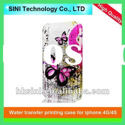 Water transfer printing plastic case for 4G/4S