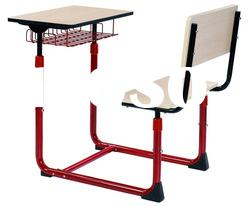 adjustable single sesk & chair, adjustable school table,