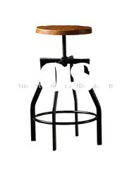 barstool, solid wood furniture , solid wood and metal stool