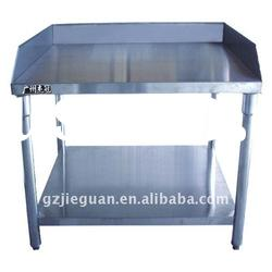 brushed stainless steel work table