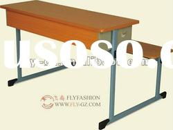 cheap desk and chair, hot sale double desk and chair, school furniture