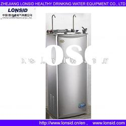 cold & hot stainless steel POU water dispenser with refrigerator cabinet