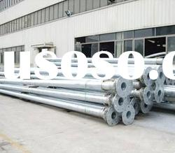 conical electric power tapered steel pole galvanized pole steel poles
