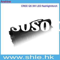 cree 3w 180lm rechargeable led torch with li-ion battery